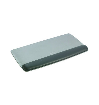 Gel-Handgelenkauflage für Tastatur grau/schwarz metallic