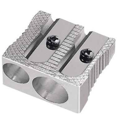 Metallspitzer  mit Behälter Keilform silber