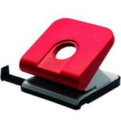 Locher Master 025-0308 rot bis 2,5mm 25 Blatt mit Anschlagschiene