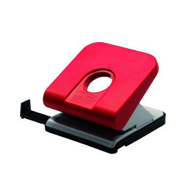 Locher Master rot 2,5mm 25 Blatt mit Anschlagschiene