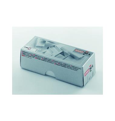 Heftklammern 042-0001, NE6, verzinkt, Heftleistung 25 Blatt max., 5000 Stück
