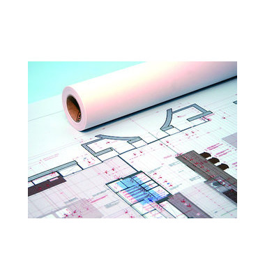 Plotterpapier Standard IJM021 914mm x 50m 90g weiß 3 Rollen