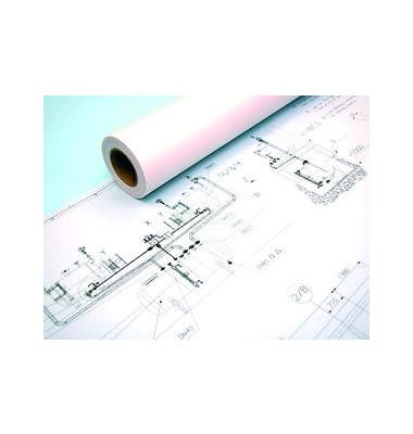 Plotterpapier Draft IJM009 594mm x 120m 80g weiß unbeschichtet 1 Rolle