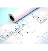 Plotterpapier Draft IJM009 841mm x 120m 80g weiß unbeschichtet 1 Rolle