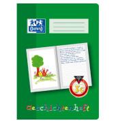 Geschichtenheft A4 Lineatur 3G liniert mit grünen Linien 16 Blatt