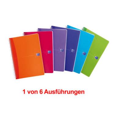Collegeblock My Colours A4 farbig sortiert kariert 90 Blatt