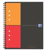 Notebook 12fa gel kariert SW/OR/RO A5+ 80 Bl