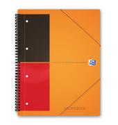 Meetingbook A4+ 6mm-liniert 4-fach geloch 80 Blatt mit Gummizug
