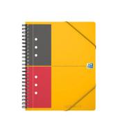 Meetingbook A5+ 6mm-liniert 4-fach geloch 80 Blatt mit Gummizug