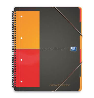 Collegeblock Work 100102777, A4+ kariert, 80g 90 Blatt, 4-fach-Lochung, mit Register