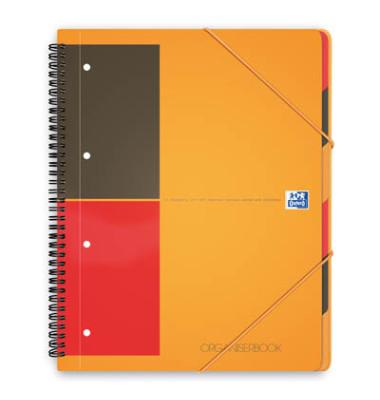 Collegeblock Work 100100462, A4+ liniert, 80g 90 Blatt, 4-fach-Lochung, mit Register