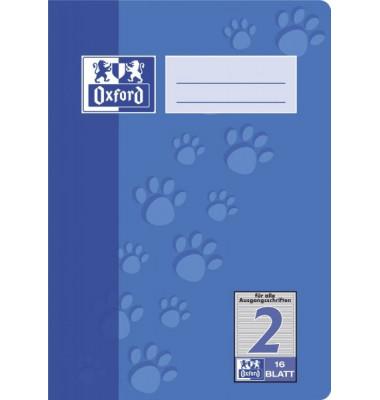 Schulheft 2. Schuljahr A5 Lineatur 2 liniert farbig hinterlegt 16 Blatt