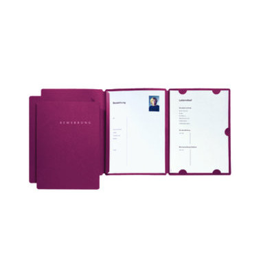 Bewerbungsmappe 22002 Select 3-teilig A4 bis 10 Blatt rot