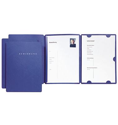 Bewerbungsmappe 22002 Select 3-teilig A4 bis 10 Blatt blau