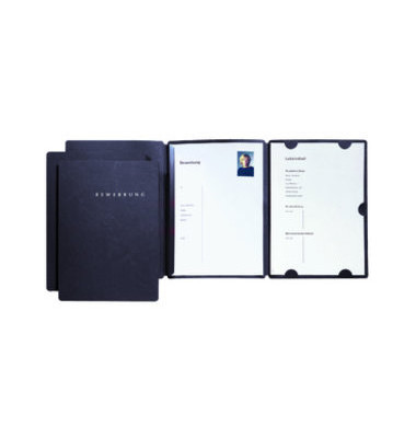 Bewerbungsmappe 22002 Select 3-teilig A4 bis 10 Blatt schwarz