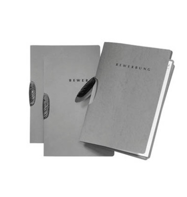 Bewerbungsmappe 22004 Basic Swing mit Clip A4 bis 15 Blatt grau