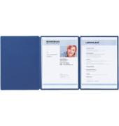 Bewerbungsmappe 22009 Supreme 3-teilig mit 2 Klemmen A4 blau