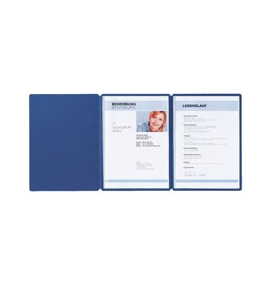 Pagna Bewerbungsmappe 22009 Supreme 3 Teilig Mit 2 Klemmen A4 Blau