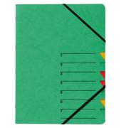 Ordnungsmappe A4 Easy grün Pressspan 7 Fächer
