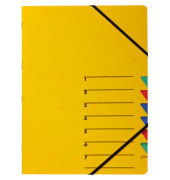 Ordnungsmappe A4 Easy gelb Pressspan 7 Fächer