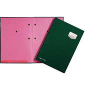 Unterschriftenmappe de Luxe 24102 A4 Kunststoff grün mit Einsteckschild 10 Fächer