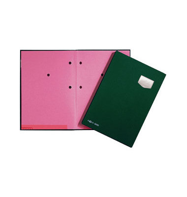 Unterschriftsmappe Eco grün 10Fächer