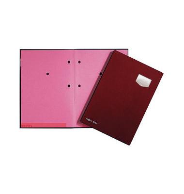 Unterschriftsmappe Eco rot A4 10 Fächer