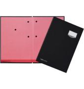 Unterschriftenmappe de Luxe 24102 A4 Kunststoff schwarz mit Einsteckschild 10 Fächer