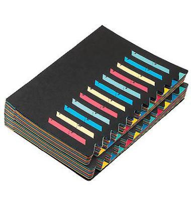 Ordnungsmappe Easy 24 Fächer schwarz A4