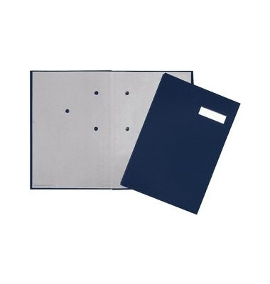 Unterschriftenmappe 24192 A4 ECO blau mit Einsteckschild 20 Fächer