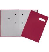 Unterschriftenmappe 24192 A4 ECO rot mit Einsteckschild 20 Fächer