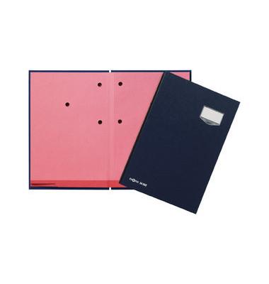 Unterschriftmappe A4 20 Fächer blau Eco-Einband