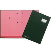 Unterschriftenmappe de Luxe 24202 A4 ECO grün mit Einsteckschild 20 Fächer