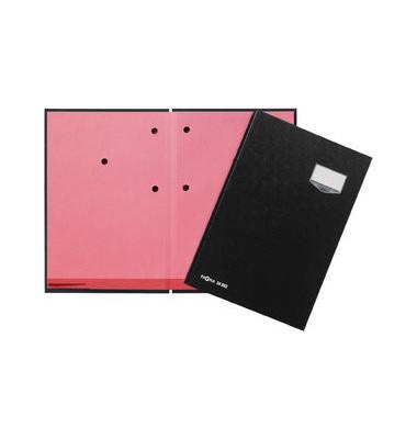 Unterschriftenmappe de Luxe 24202 A4 ECO schwarz mit Einsteckschild 20 Fächer