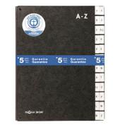 Pultordner A4 Recyclingkarton schwarz A-Z 24-teilig