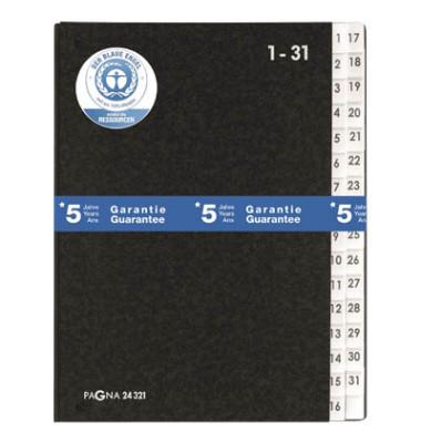 Pultordner 24321 A4 1-31 schwarz 32-teilig