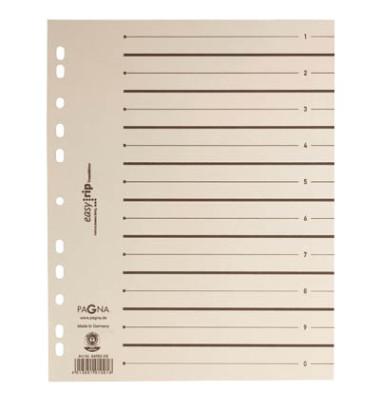Trennblätter EasyRip A4 chamois/schwarz perforiert 225g 100 Blatt