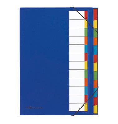 Ordnungsmappe Deskorganizer blau 238x330x15mm 12-tlg.