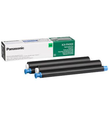 Thermotransferband KX-FA55X schwarz 140 Seiten 2 Stück