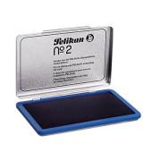 Stempelkissen 331017 No2 Größe 2 blau getränkt ohne Öl 11x7cm im Metallgehäuse