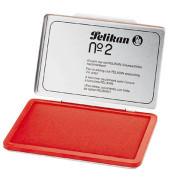 Stempelkissen 331025 No2 Größe 2 rot getränkt ohne Öl 11x7cm im Metallgehäuse