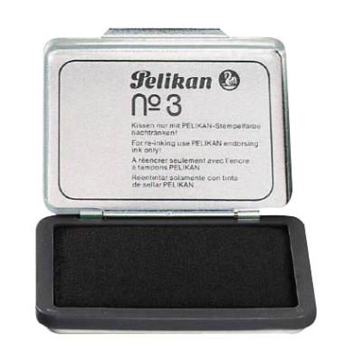 Stempelkissen 331066 No3 Größe 3 schwarz getränkt ohne Öl 7x5cm im Metallgehäuse