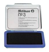 Stempelkissen 331165 No3 Größe 3 blau getränkt ohne Öl 7x5cm im Metallgehäuse