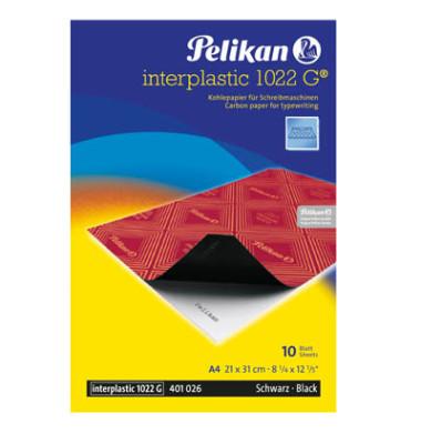 Kohlepapier Interplastik 1022G schwarz A4 10 Blatt