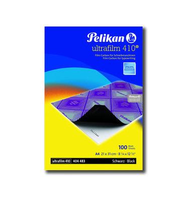 Kohlepapier für Schreibmaschinen A4 schwarz Ultrafilm 100 Blatt