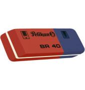 Radierer für Blei-, Farbstift & Tinte blau/rot BR40 Kautschuk