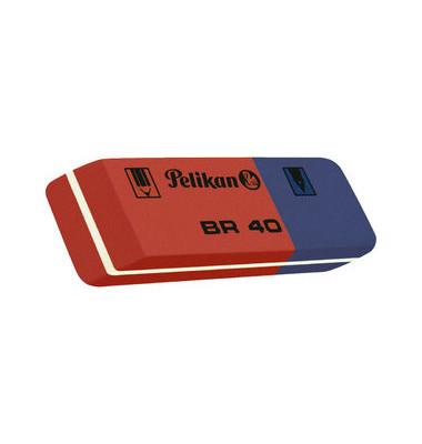 Radierer für Bleistift/Farbstift/Tinte blau/rot BR40 Kautschuk