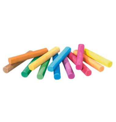 Tafelkreide 745 farbig sortiert rund 12x90mm 12 Stück mit Oberflächenbeschichtung