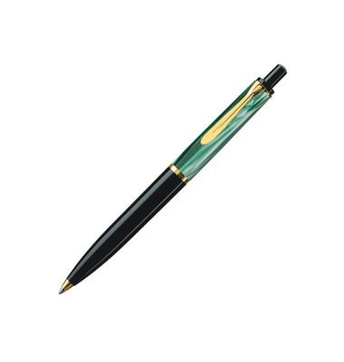 Kugelschreiber K200 marmoriert sw/grün schwarze Min Goldclip