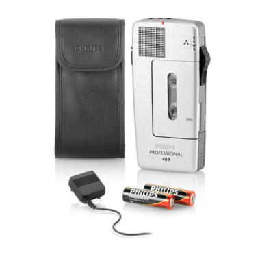 Diktiergerät PocketMemo 488 analog silber